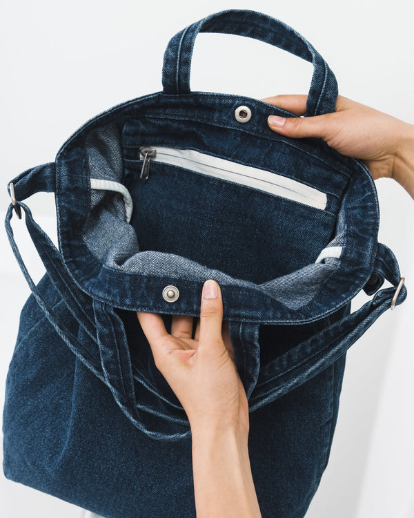 Dark Denim Duck Bag by Baggu