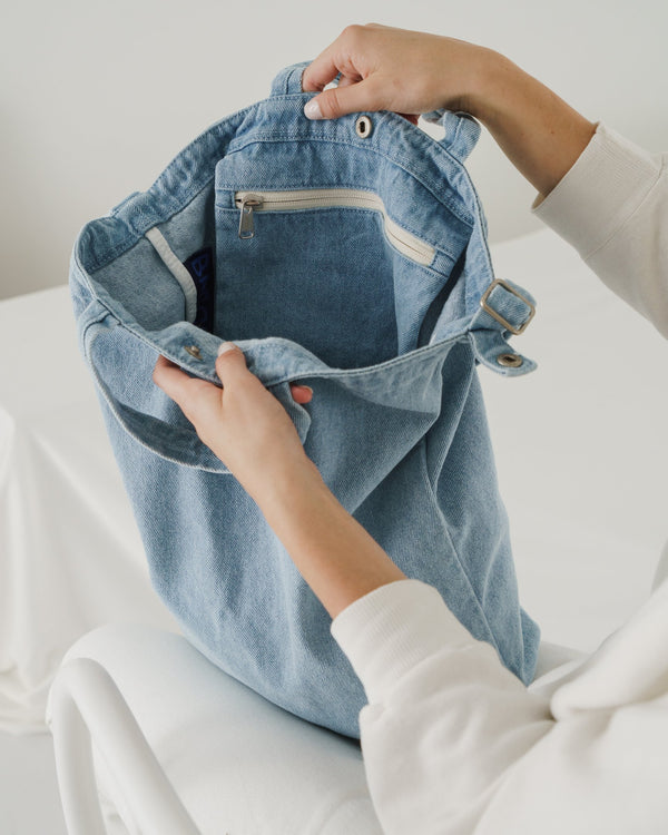 Light Denim Duck Bag by Baggu