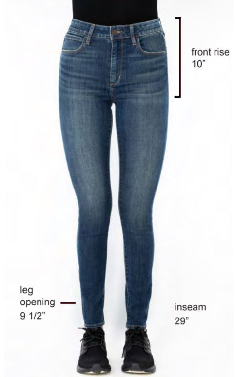 The Hilary High Rise Skinny Jeans by Articles of Society - Pure Blue
