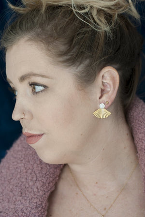 Pleat Jackets with Mother of Pearl Studs by Michelle Starbuck Designs