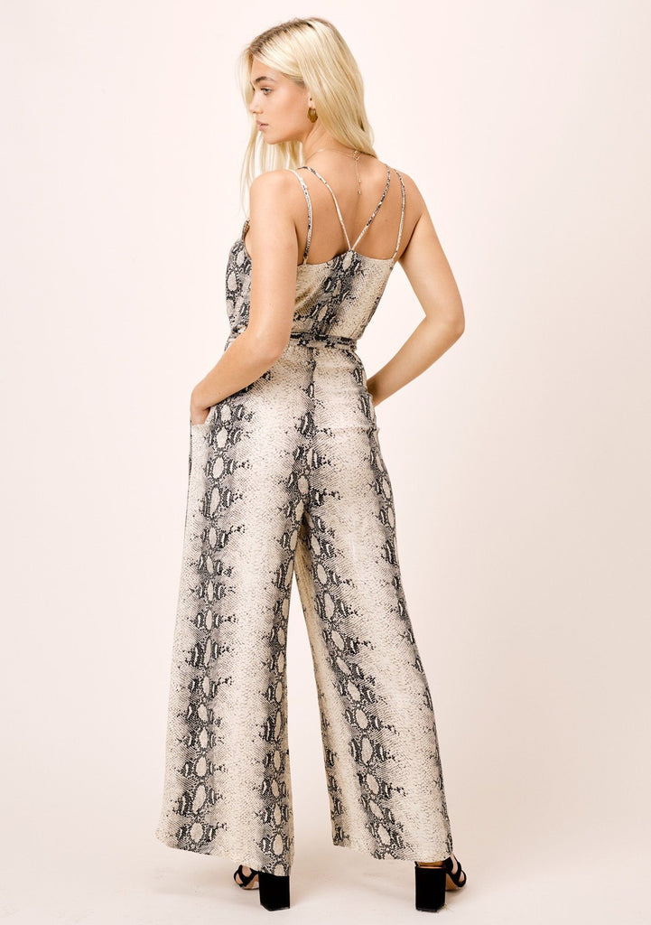 The Laras Snakeskin Print Jumpsuit
