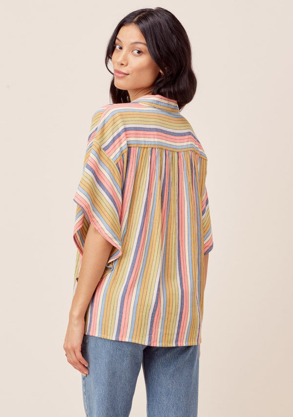 The Pia Striped Button-down