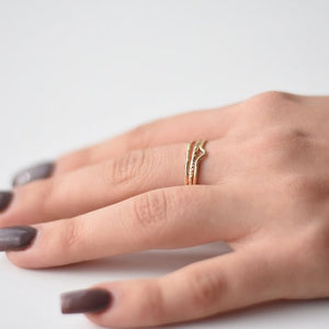 Freeform Midi Ring by Goldeluxe Jewelry