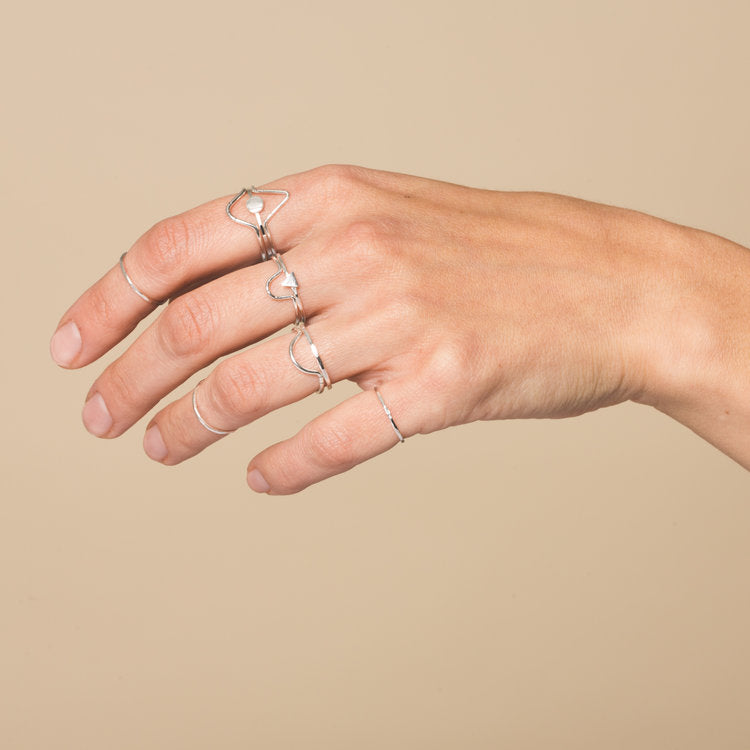 Peak Midi Ring by Goldeluxe Jewelry