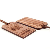 San Diego Wood Engraved Luggage Tag