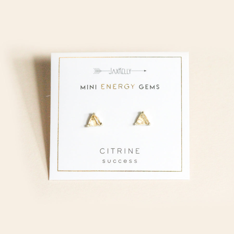 Citrine Mini Energy Stud Earrings by JaxKelly