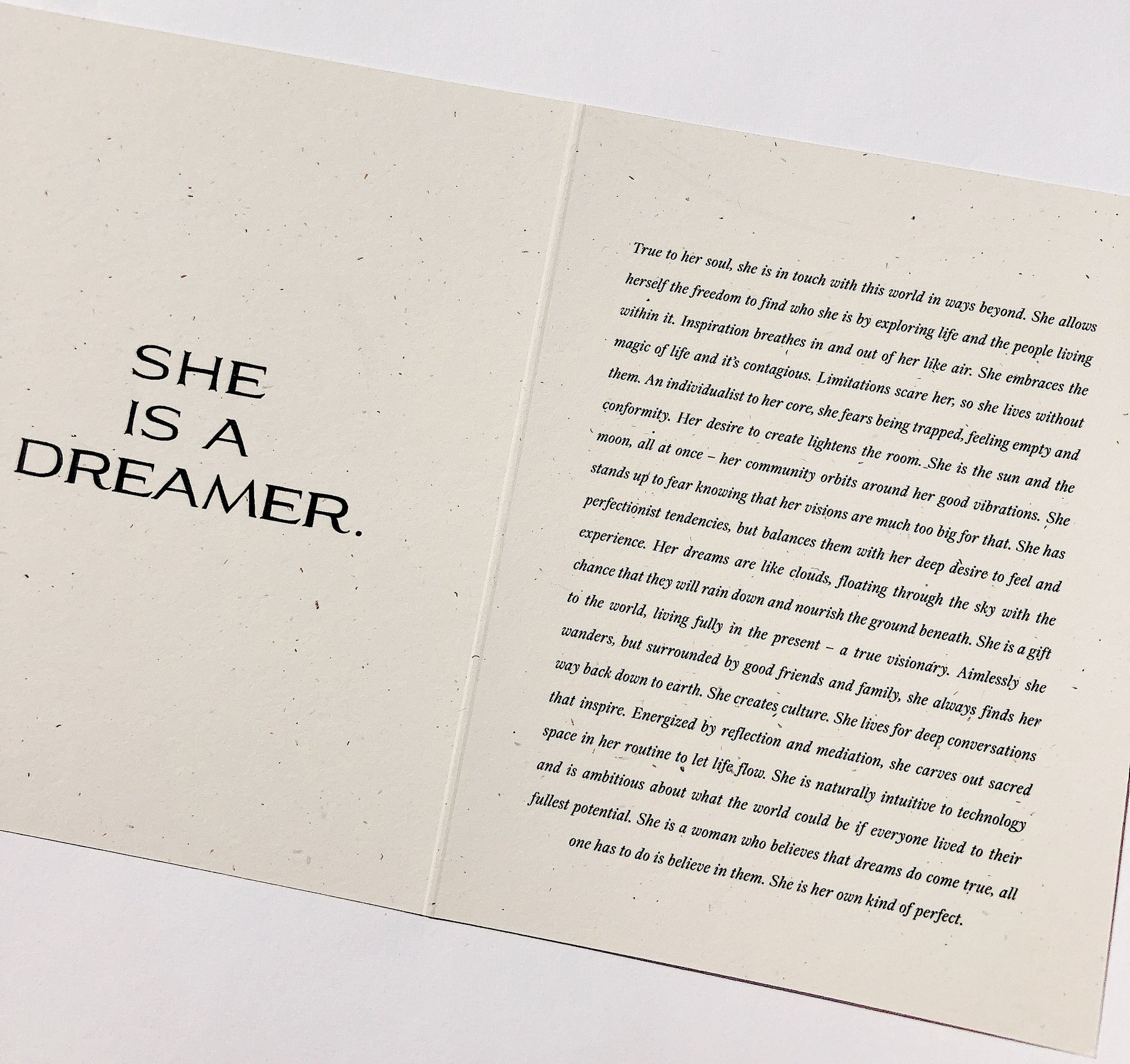 The Dreamer Card by Wilde House Paper
