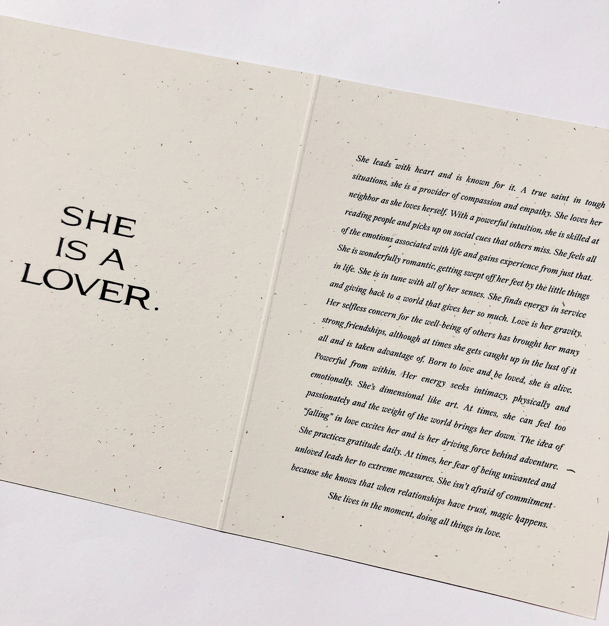 The Lover Card by Wilde House Paper