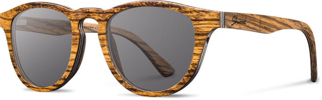 Francis Grey Zebra Wood Sunglasses by Shwood