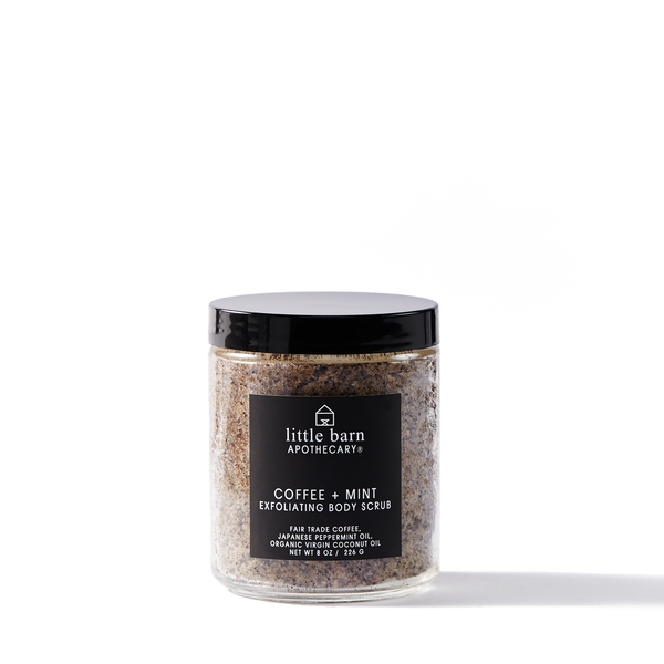Coffee + Mint Exfoliating Body Scrub by Little Barn Apothecary