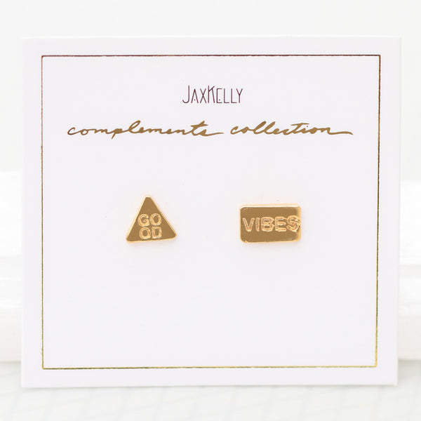 Good Vibes Compliment Earrings by JaxKelly