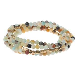 Courage Amazonite Bold Wrap Bracelet/Necklace