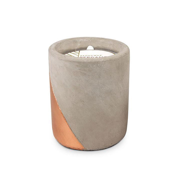 Concrete Pot Bergamot and Mahogany Candle by Paddywax
