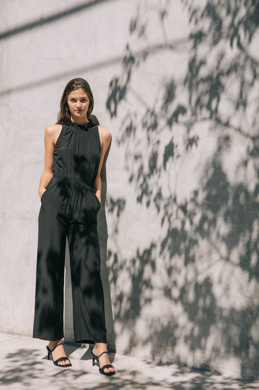The Lara Ruffle Neck Jumpsuit