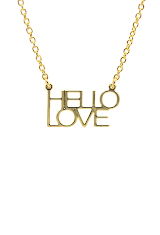Hello Love 14k Gold Dipped Necklace