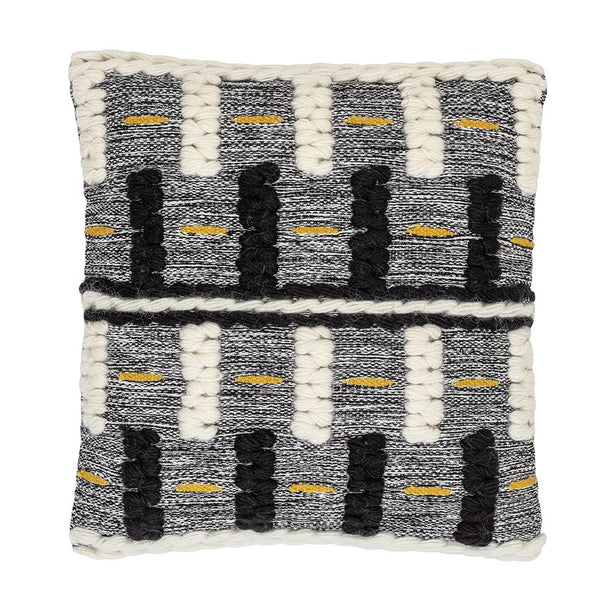 Geometric Wool Textured Throw Pillow