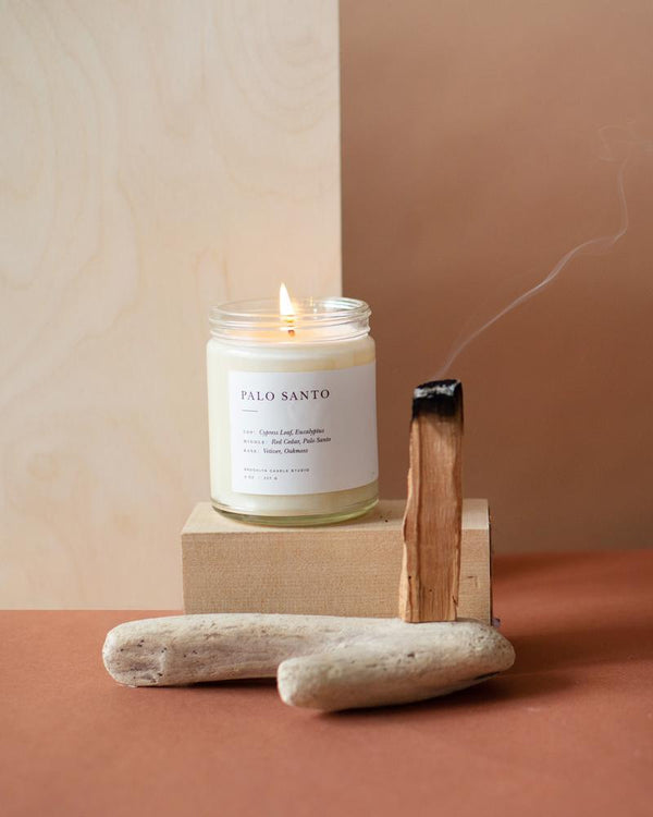 The Palo Santo Minimalist Candle by Brooklyn Candle Studio
