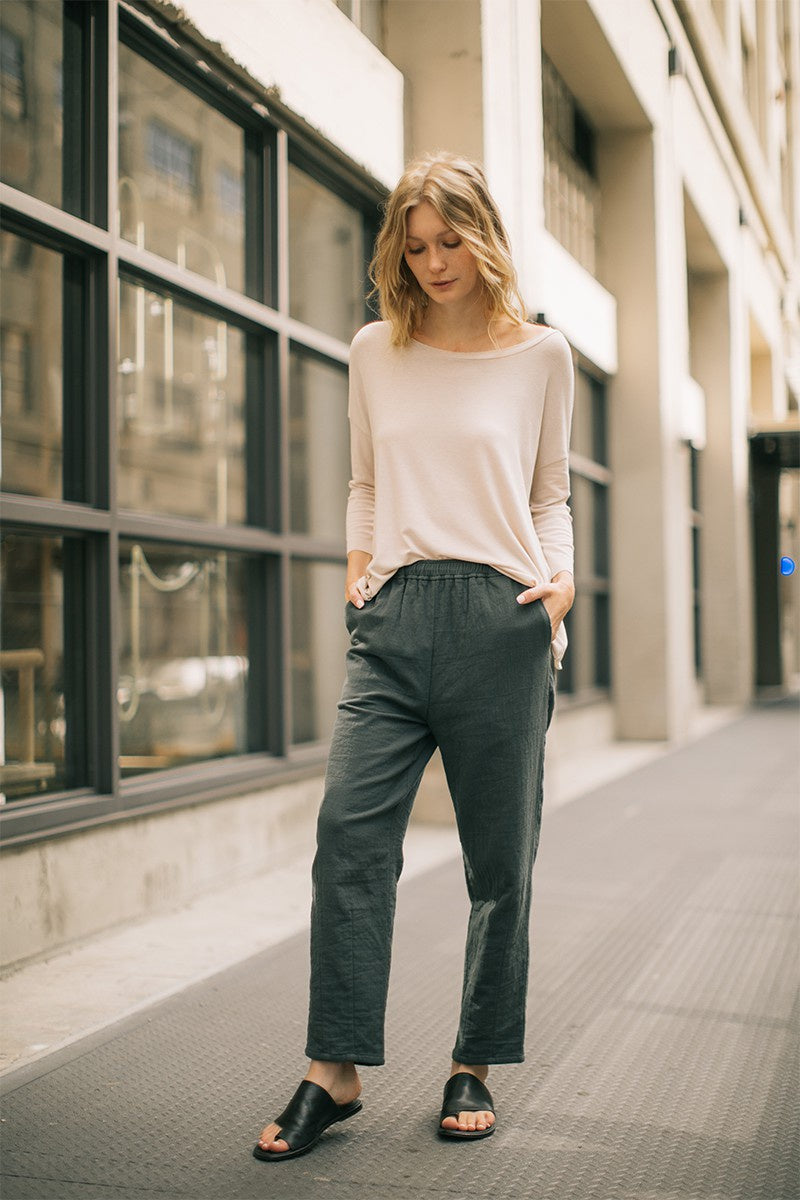 The Miriam Tapered Textured Pants