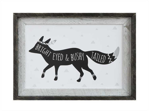 Bright Eyed Bushy Tailed Wood Art