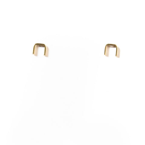 Short Brass Staple Studs