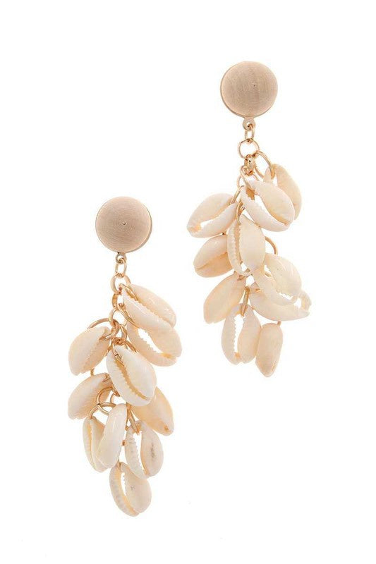 The Chandra Shell Cluster Earrings