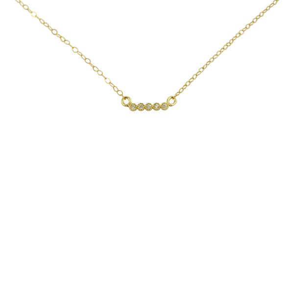 The Gold Bar Necklace By Wander + Lust