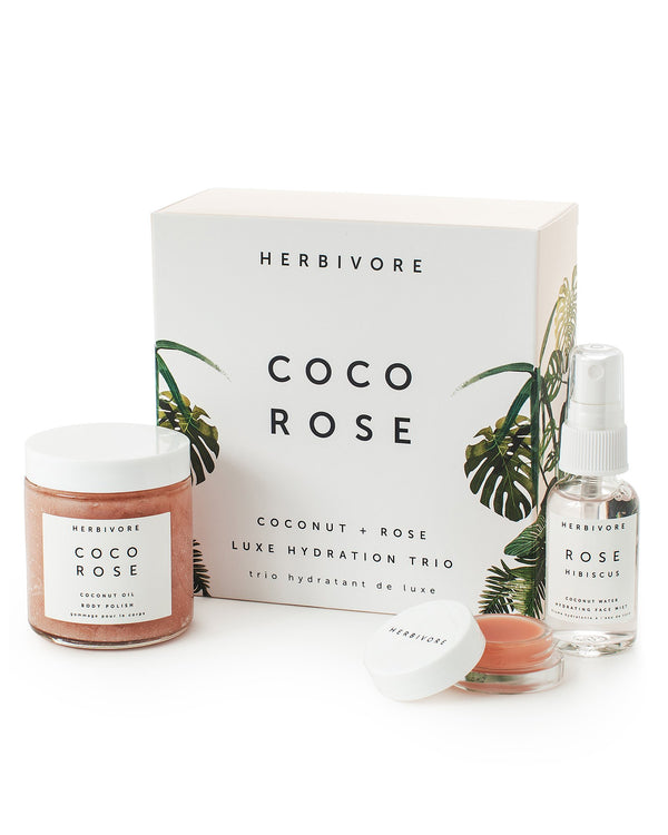 Coco Rose Luxe Hydration Trio by Herbivore Botanicals