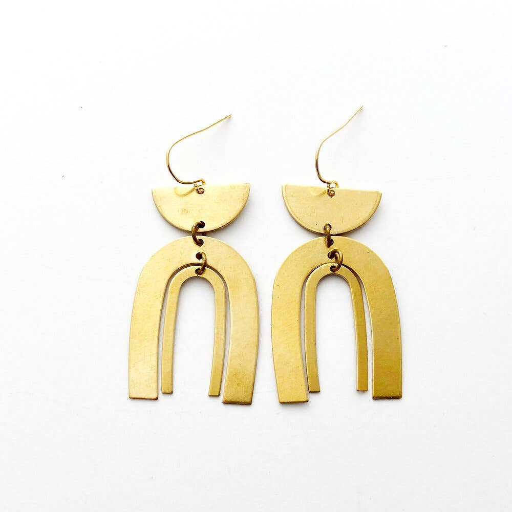 The Sandi Brass Earrings by Found & Feral