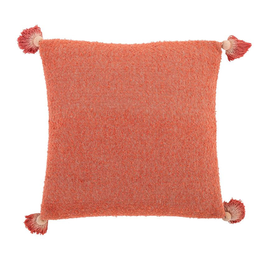 Clementine Square Pillow With Ombre Tassels