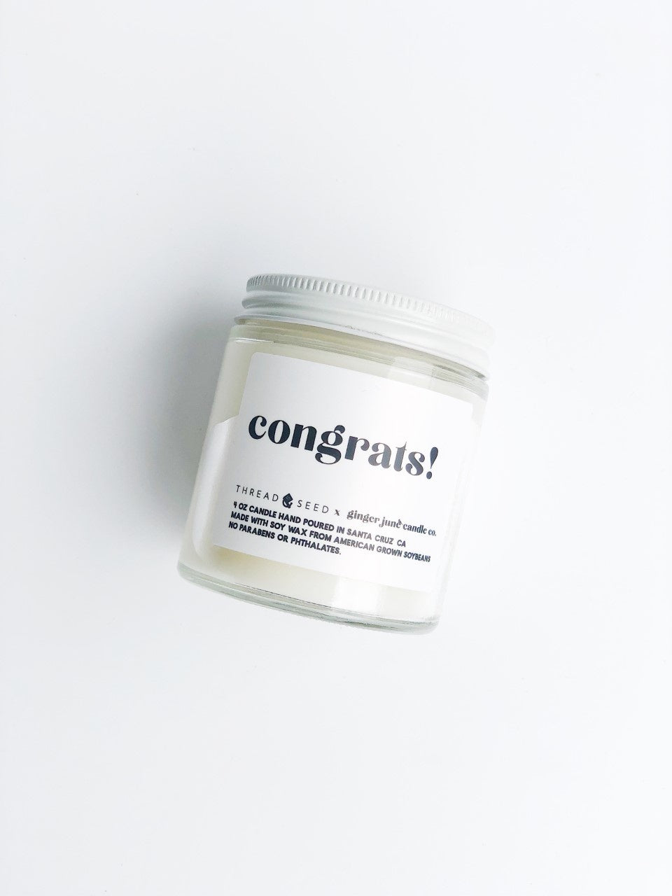 Congrats Candle by Ginger June x Thread + Seed