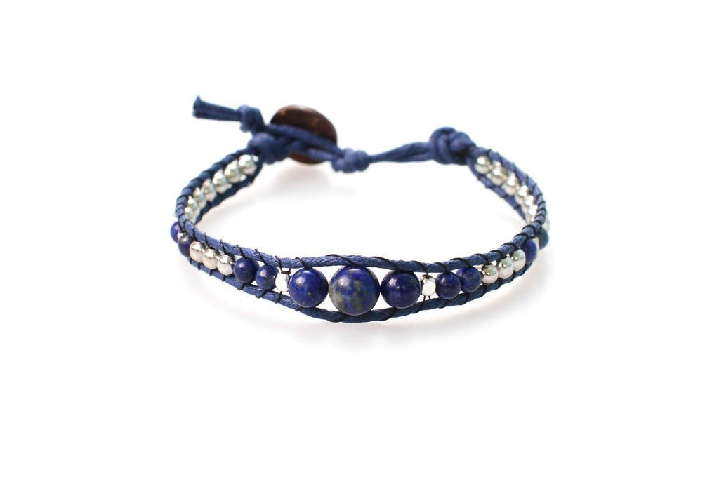 A Whale's Tail Beaded Bracelet by Lotus and Luna
