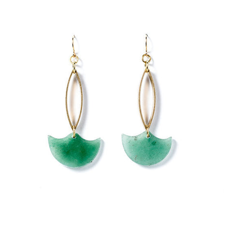Aventurine Tidal Earrings