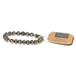 Positive Energy Pyrite Stacking Bracelet