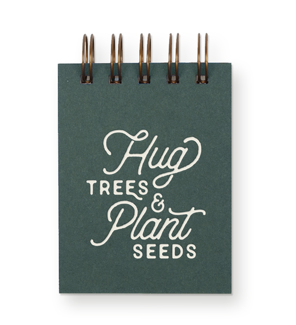 Hug Trees & Plant Seeds Jotter by Ruff House Art