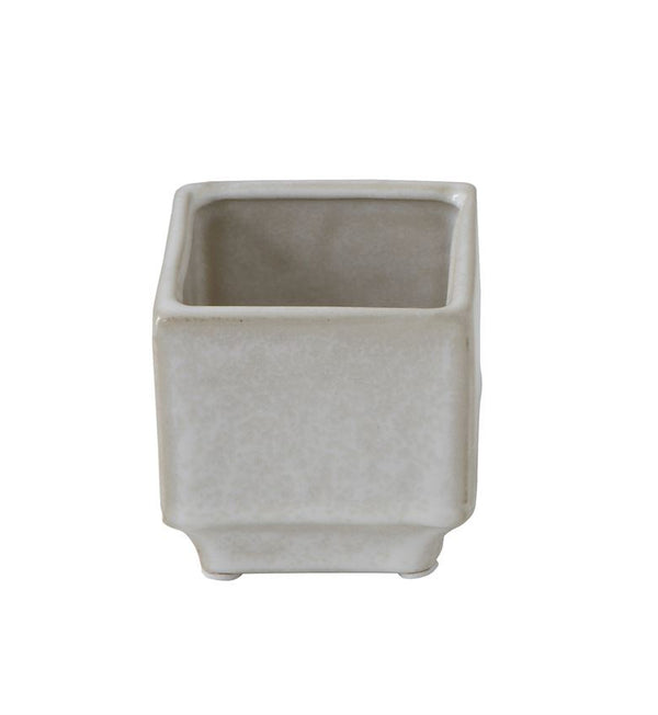 Small Reactive Glaze Square Stoneware Flower Pot