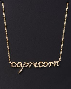 Dainty Horoscope Script Necklace