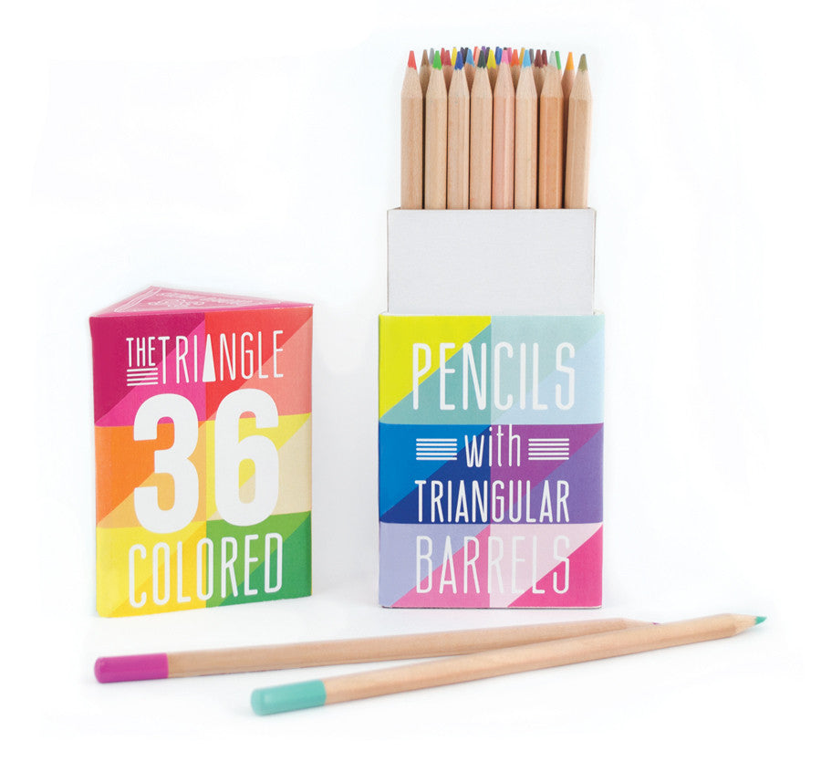 Triangle Colored Pencils - Set of 36