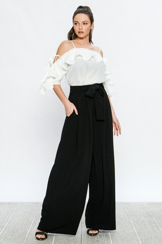 The Dina High Waisted Palazzo Pants