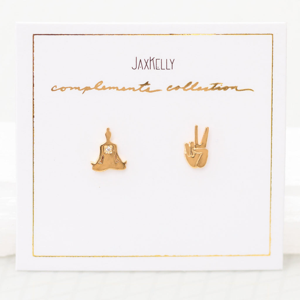 Zen Compliment Earrings by JaxKelly