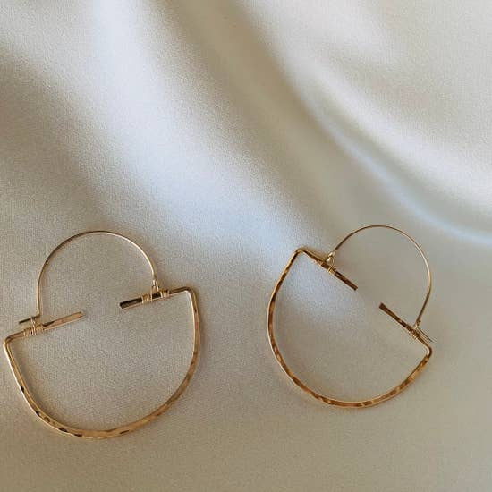 The Martriarch Nina Hoops by Points Jewelry