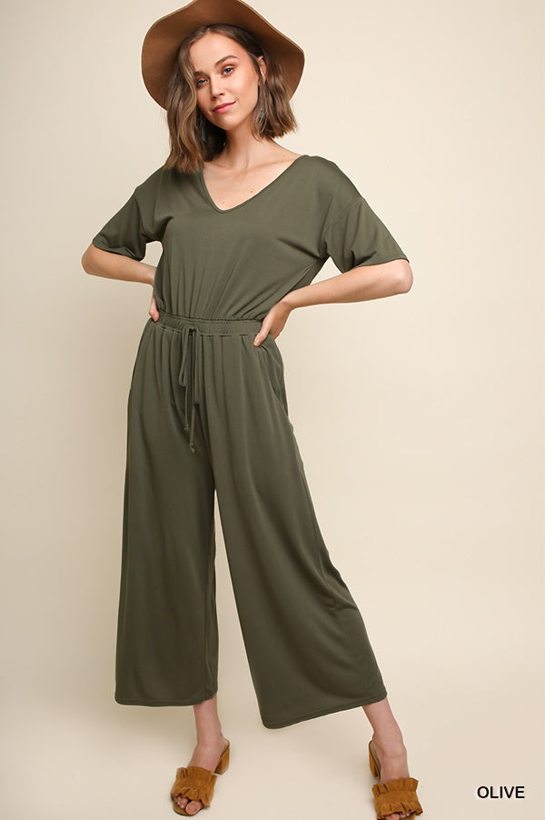 The Elodi Wide Leg Jumpsuit
