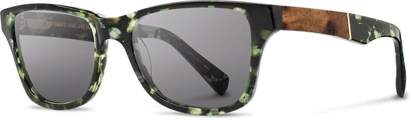 Canby Dark Forest Acetate with Elm Inlay Sunglasses by Shwood