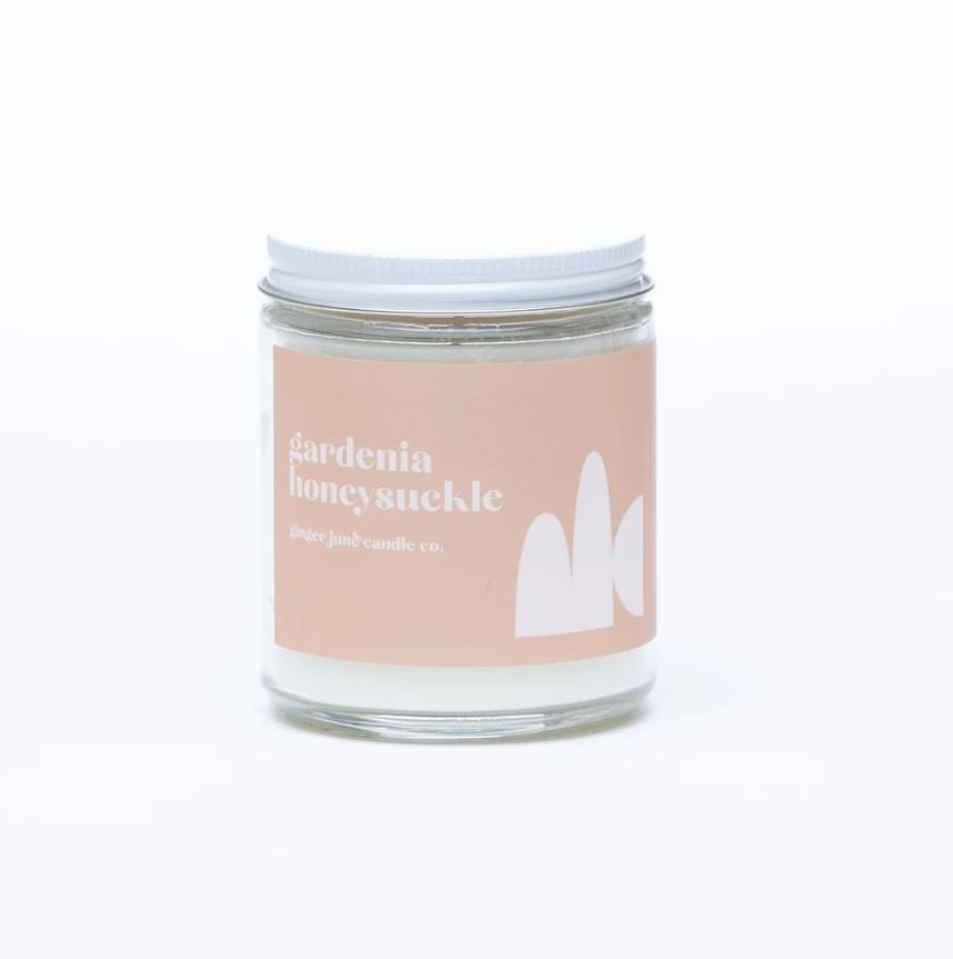 Gardenia Honeysuckle Soy Candle by Ginger June Co.