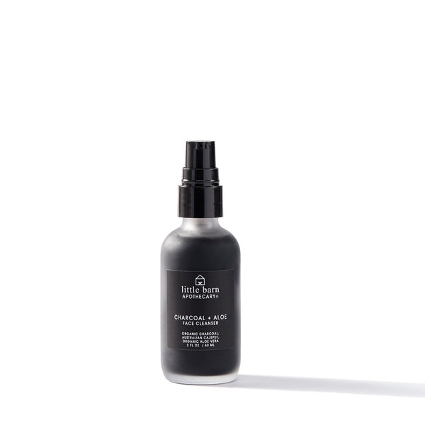 Charcoal + Aloe Face Cleanser by Little Barn Apothecary