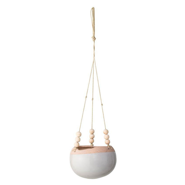 Ceramic Hanging Flower Pot in Grey