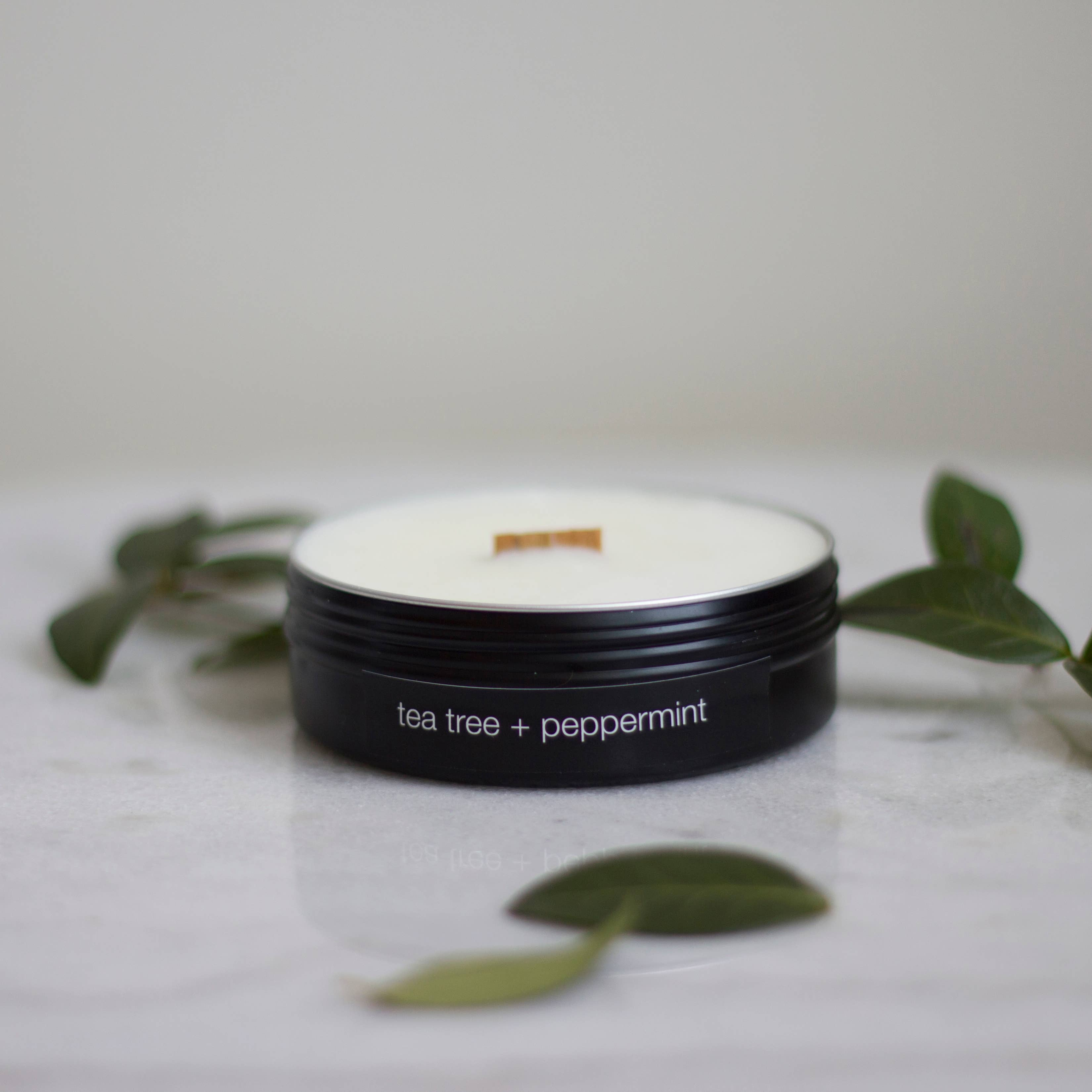 Tea Tree + Peppermint Travel Candle by Sable Candle Co.
