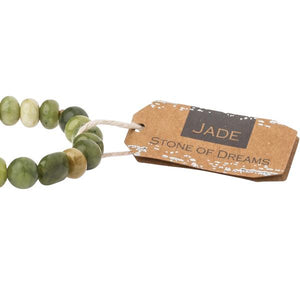 Dreams Jade Stone Stacking Bracelet