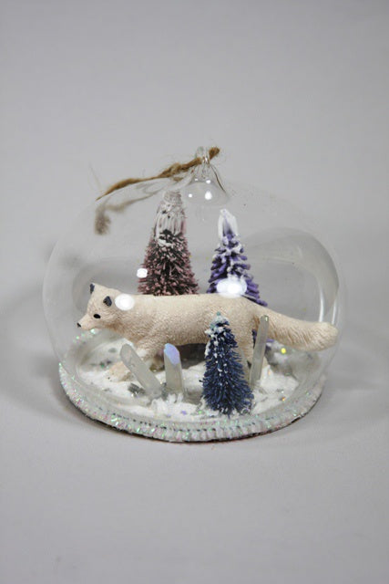 The Arctic Fox Globe Ornament