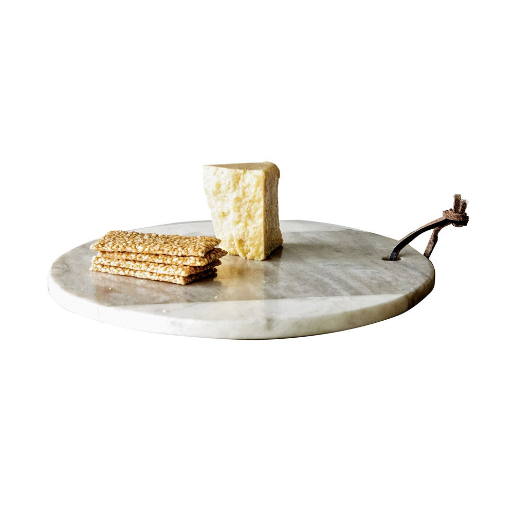 White and Grey Marble Cheese Board