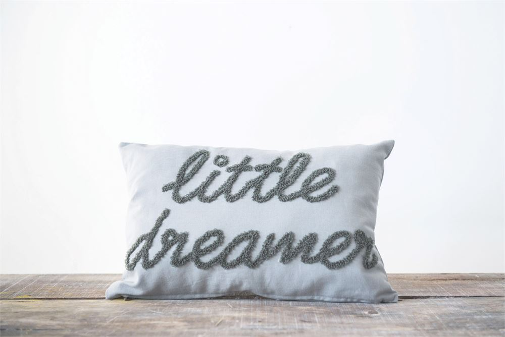 Little Dreamer Embroidered Pillow